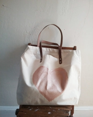 ADORE CANVAS TOTE / HEART OF (ROSE) GOLD