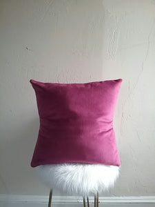 VELVET PILLOW COVER / MAGENTA