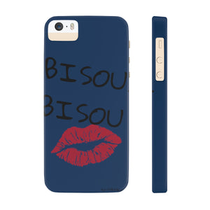 BISOU.BISOU Slim Phone Case / Denim Blue