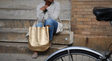 GOLD METALLIC SHOPPER