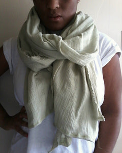 WILLOW GREEN COTTON SCARF