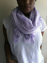 LILAC COTTON SCARF