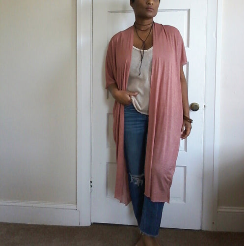ROSE BOHO SHEER DUSTER