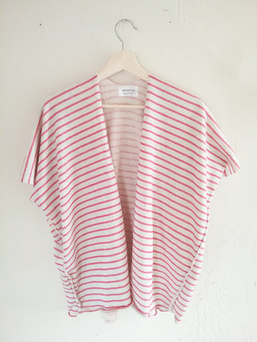 French stripe  cardigan