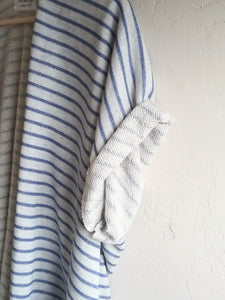 STRIPE ALEXA CARDIGAN / BLUE