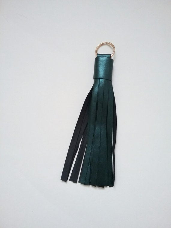 TURQUOISE LEATHER TASSEL