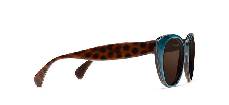 Tilda Horn in teal / spotty tortoise