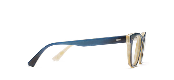 Flynn Sr. Horn in blue / creme