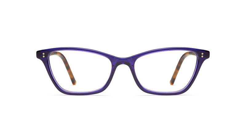 Mila in purple / tortoise
