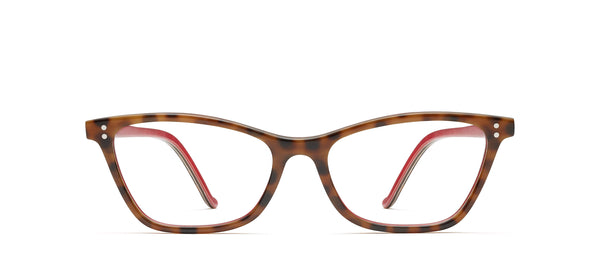 Mila Horn in tortoise / red