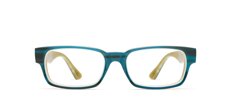 Ralphie Horn in teal matte / creme shiny