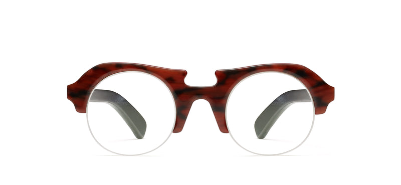 Count Rls Horn in red tortoise / black texture