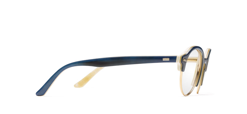 Tracy Club Horn in blue / creme-gold