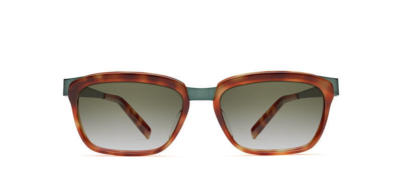 Walt Sun in green / blonde tortoise