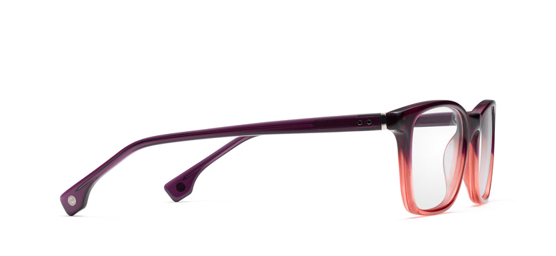 Positano in purple / red fade
