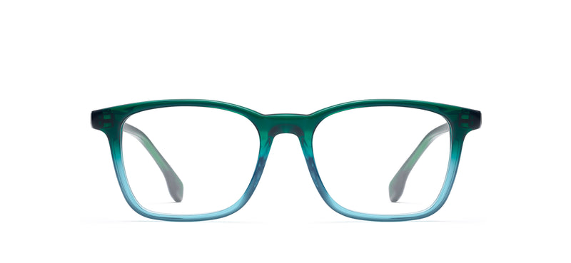 Positano in green / blue fade