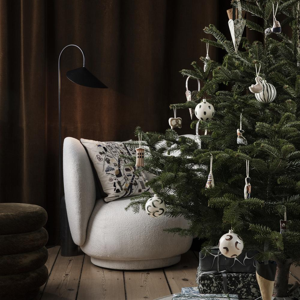 Copenhagen Embroidered Ornaments - Kringle by Ferm Living by Ferm Living