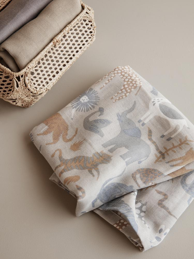 Muslin Squares (Set of 3) in Safari by Ferm Living