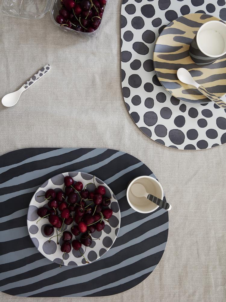 Safari dinner mat in Zebra by Ferm Living