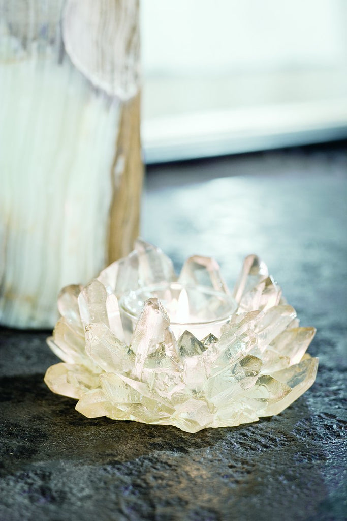 Votive Candle Holder in Faux Crystal design by Regina Andrew