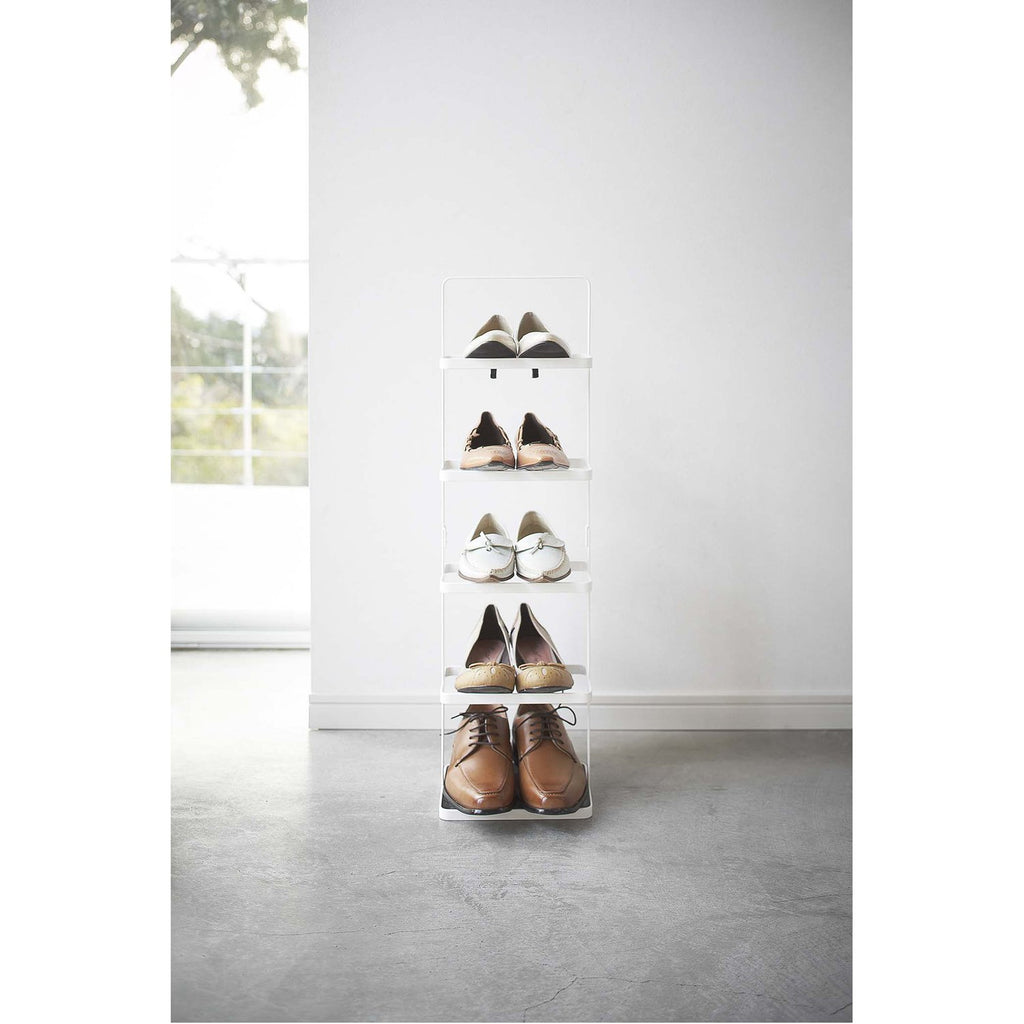 Tower 5-Tier Slim Portable Shoe Rack - Tall by Yamazaki