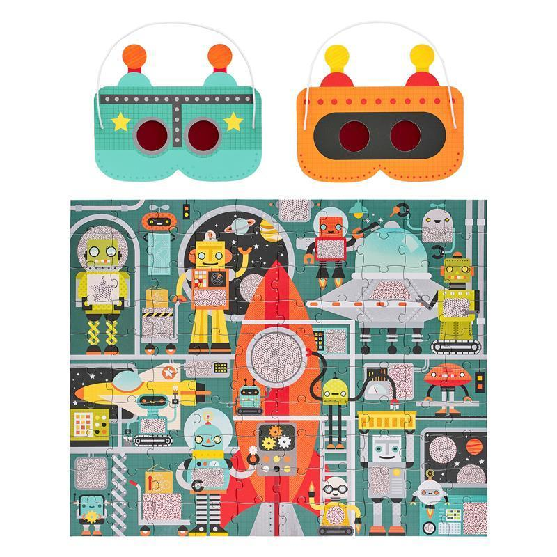 Robot Factory Decoder Puzzle by Petit Collage