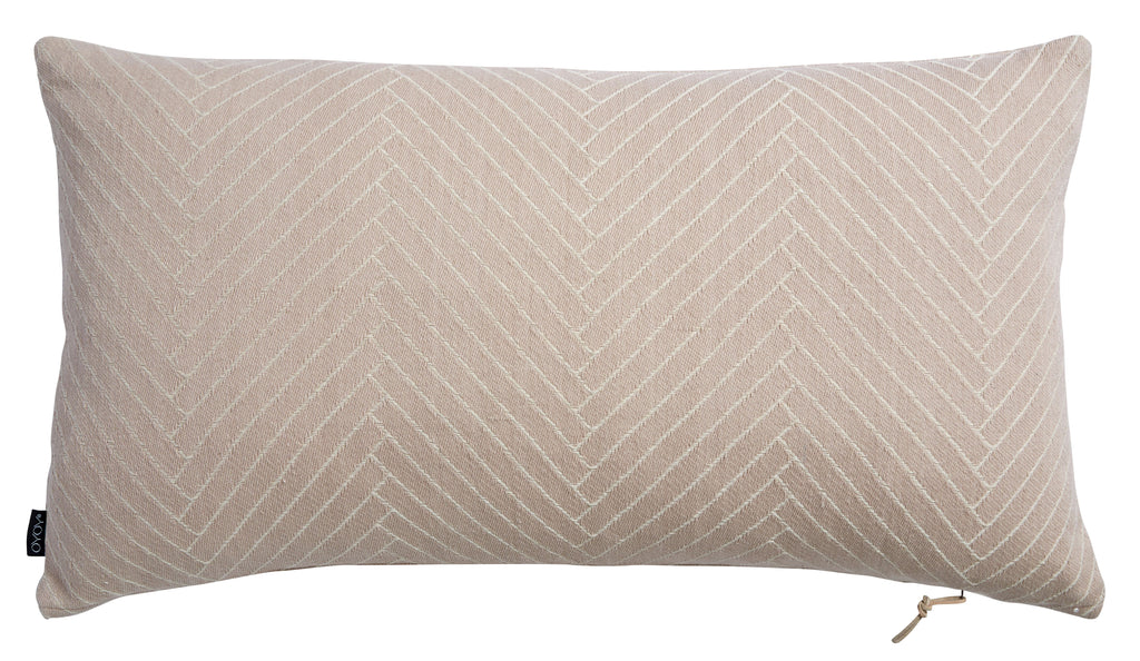 Fluffy Herringbone Pillow in Rose design by OYOY
