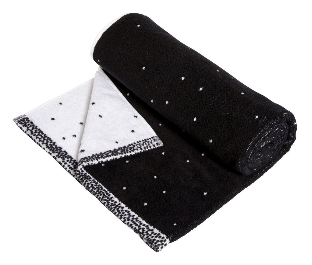 Large Dotty Towel in Black & White design by OYOY