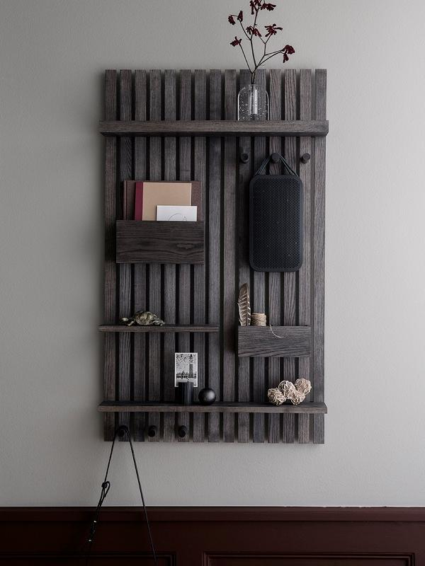 Wooden Multi Shelf in Stained Black design by Ferm Living