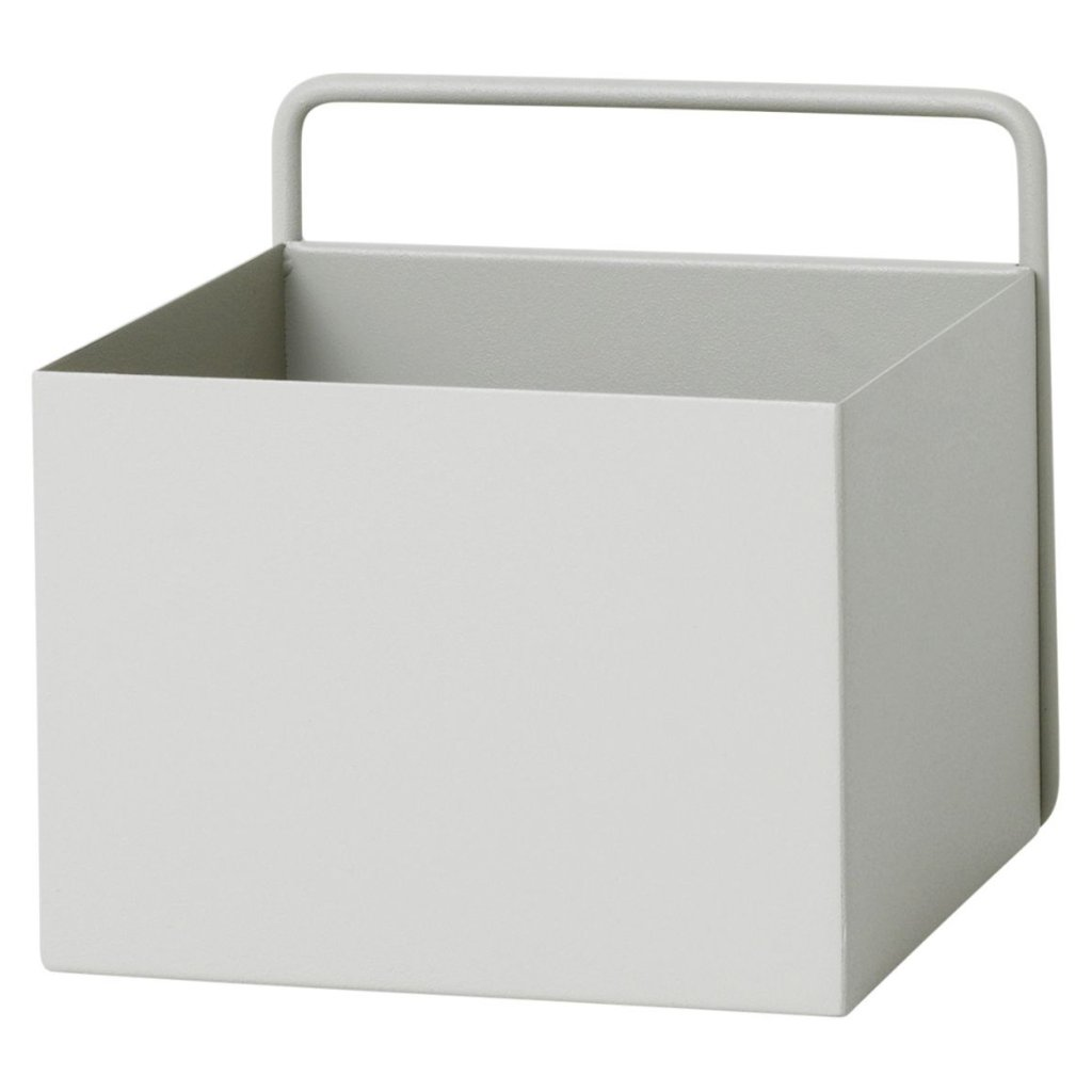 Square Wall Box in Light Grey by Ferm Living