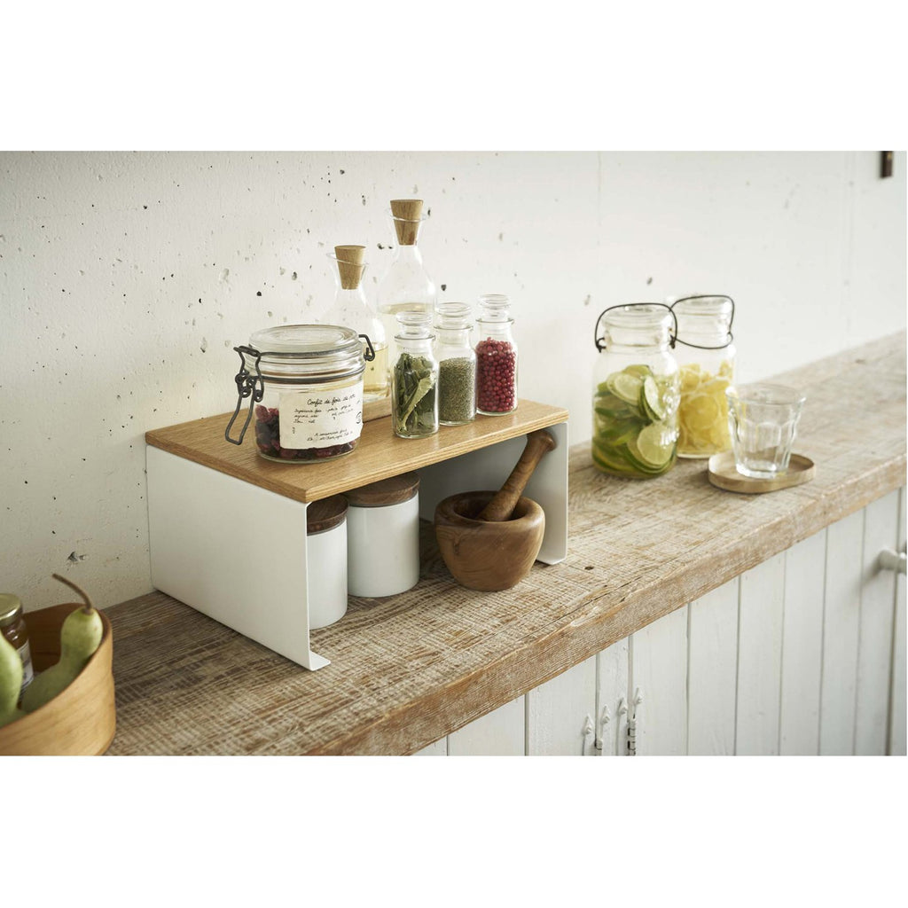 Tosca Wood-Top Stackable Kitchen Rack - Large by Yamazaki