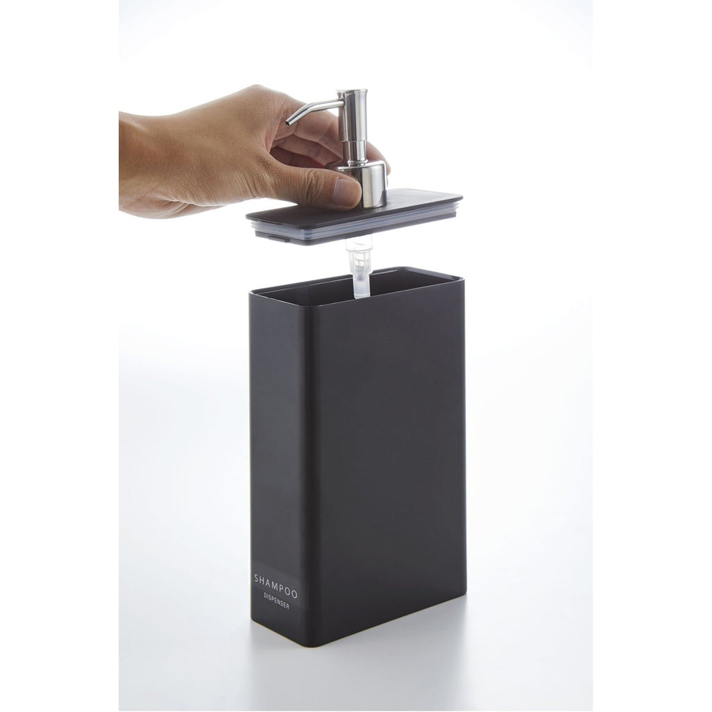 Tower Rectangular Bath and Shower Dispensers by Yamazaki