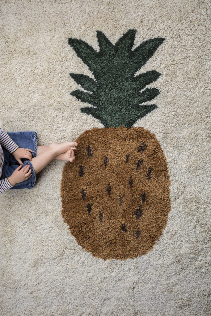Fruiticana Tufted Pineapple Rug by Ferm Living