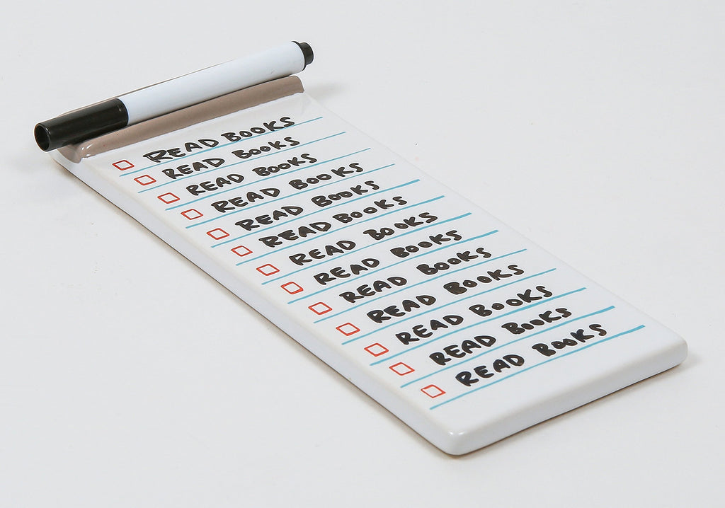 Never-Ending Notepad Ceramic List Maker and Dry-Erase Pen By Chronicle Books