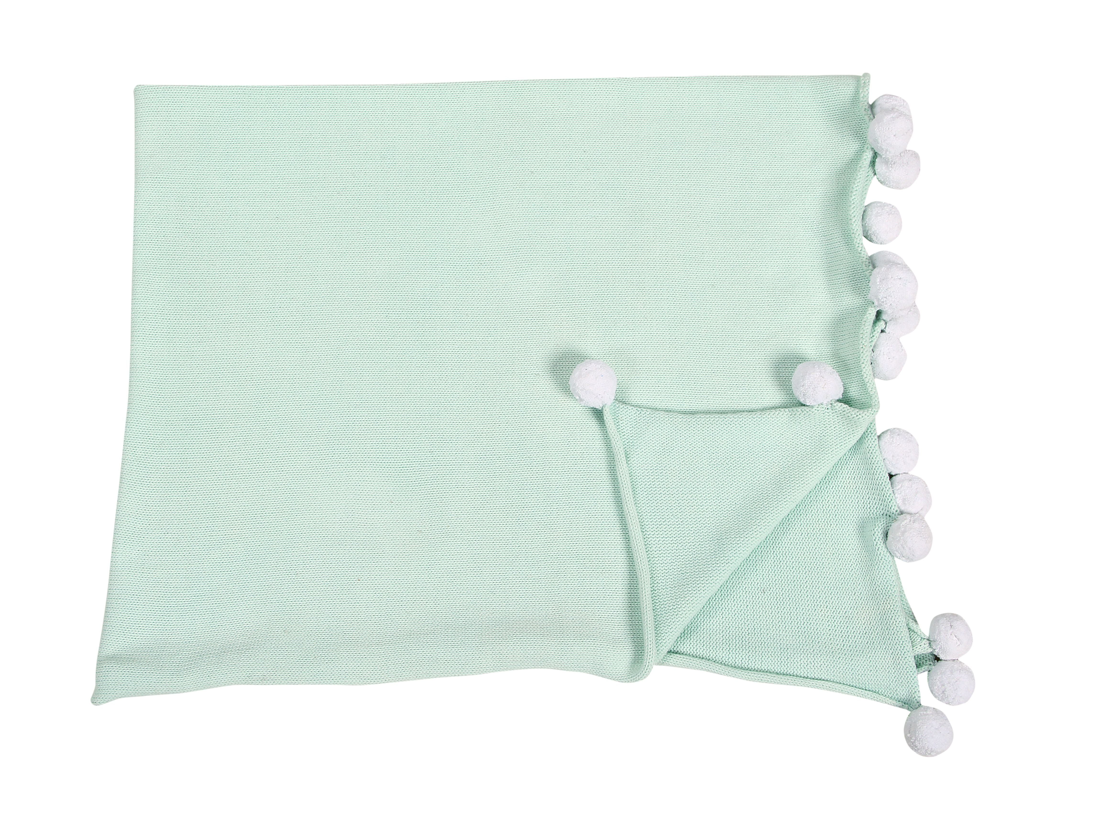 Bubbly Baby Blanket in Mint design by Lorena Canals