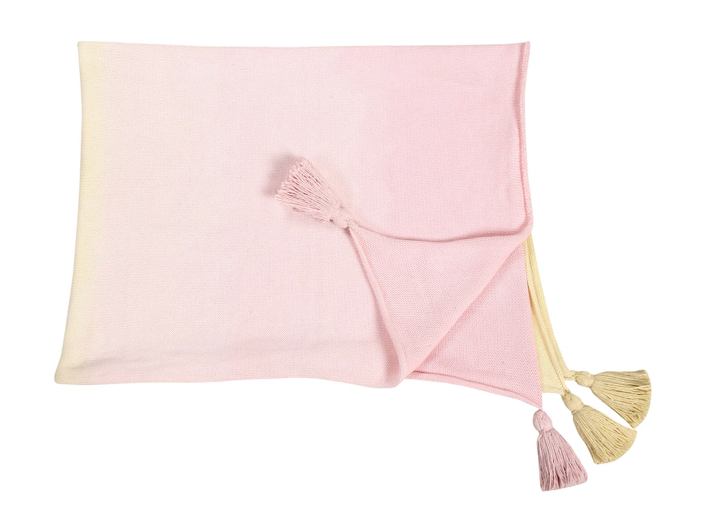 Ombré Baby Blanket in Vanilla & Soft Pink design by Lorena Canals