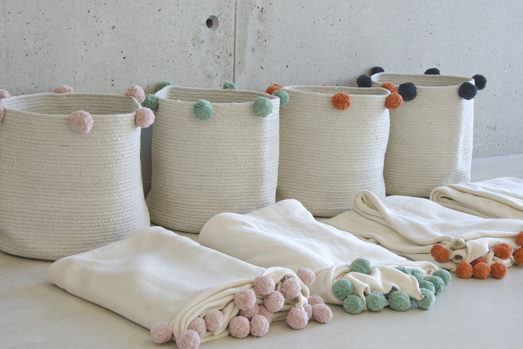 Bubbly Blanket in Natural & Green