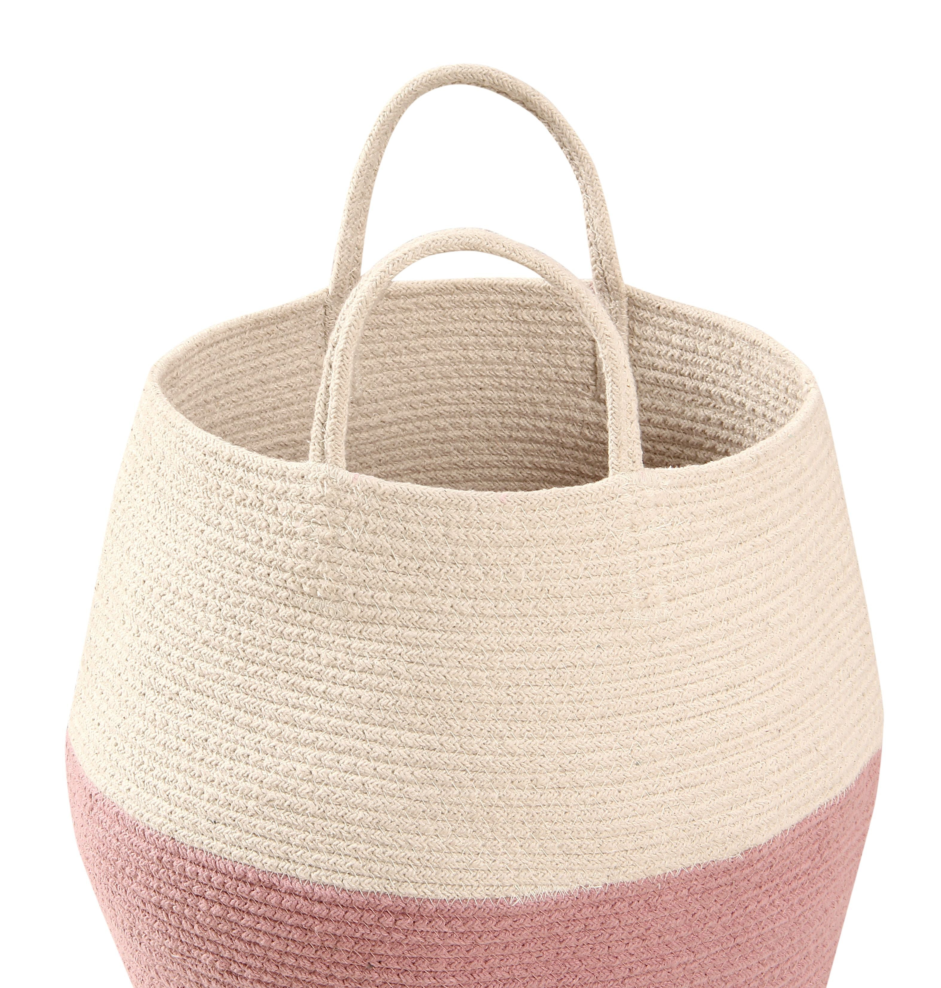 Zoco Basket in Ash Rose & Natural design by Lorena Canals