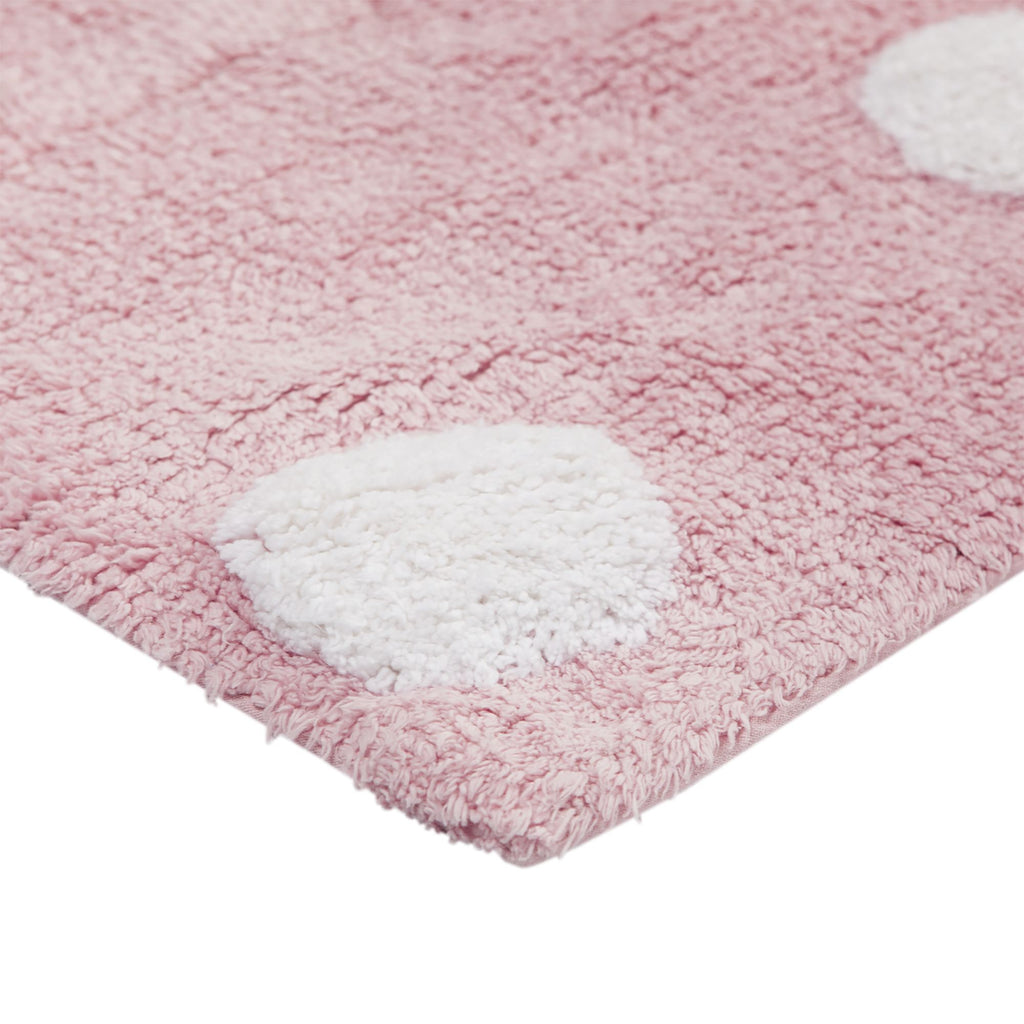 Polka Dots Rug in Pink & White design by Lorena Canals