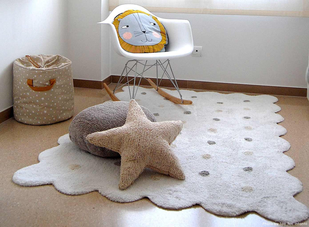Biscuit Rug in White design by Lorena Canals