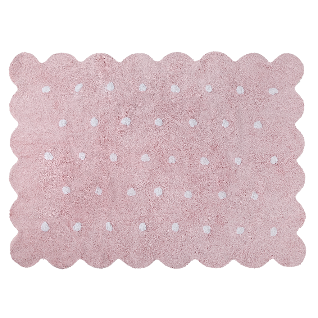 Washable Rug in Biscuit Pink