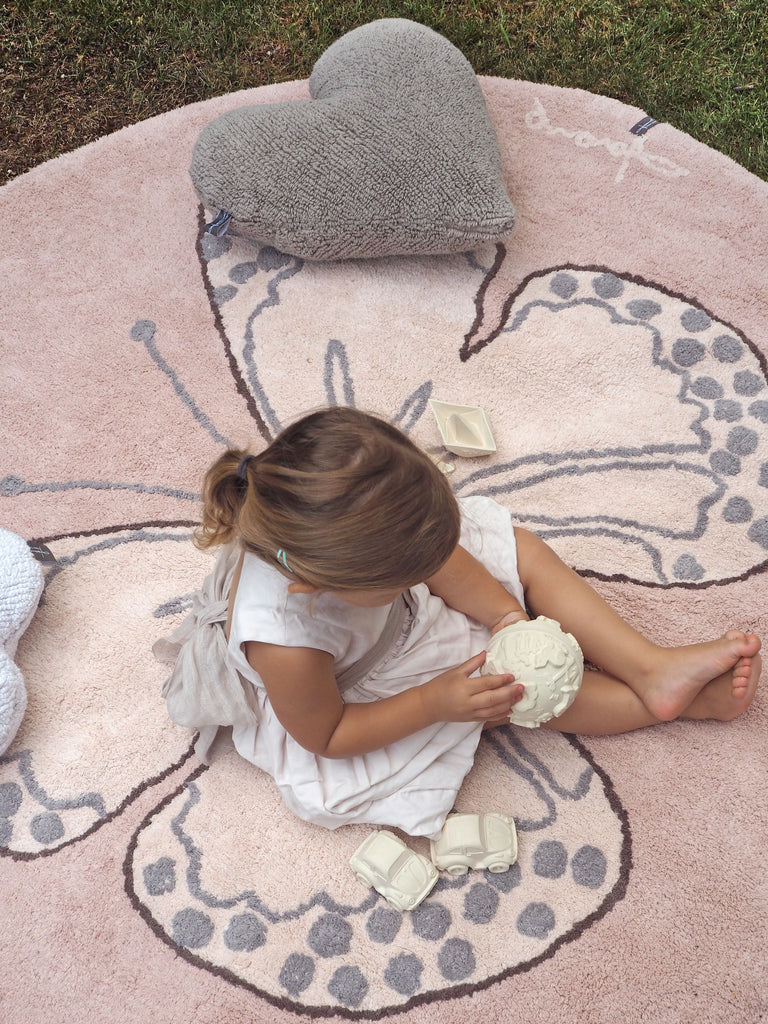 Butterfly Rug in Vintage Nude design by Lorena Canals