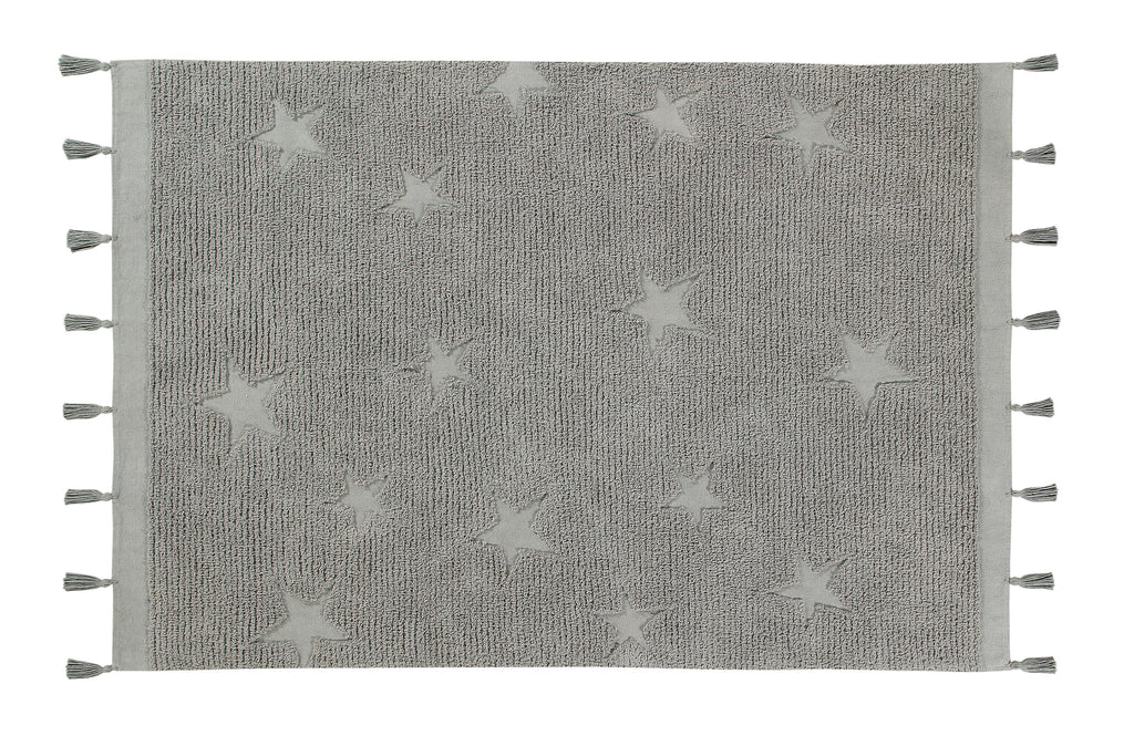 Hippy Stars Rug in Grey design by Lorena Canals