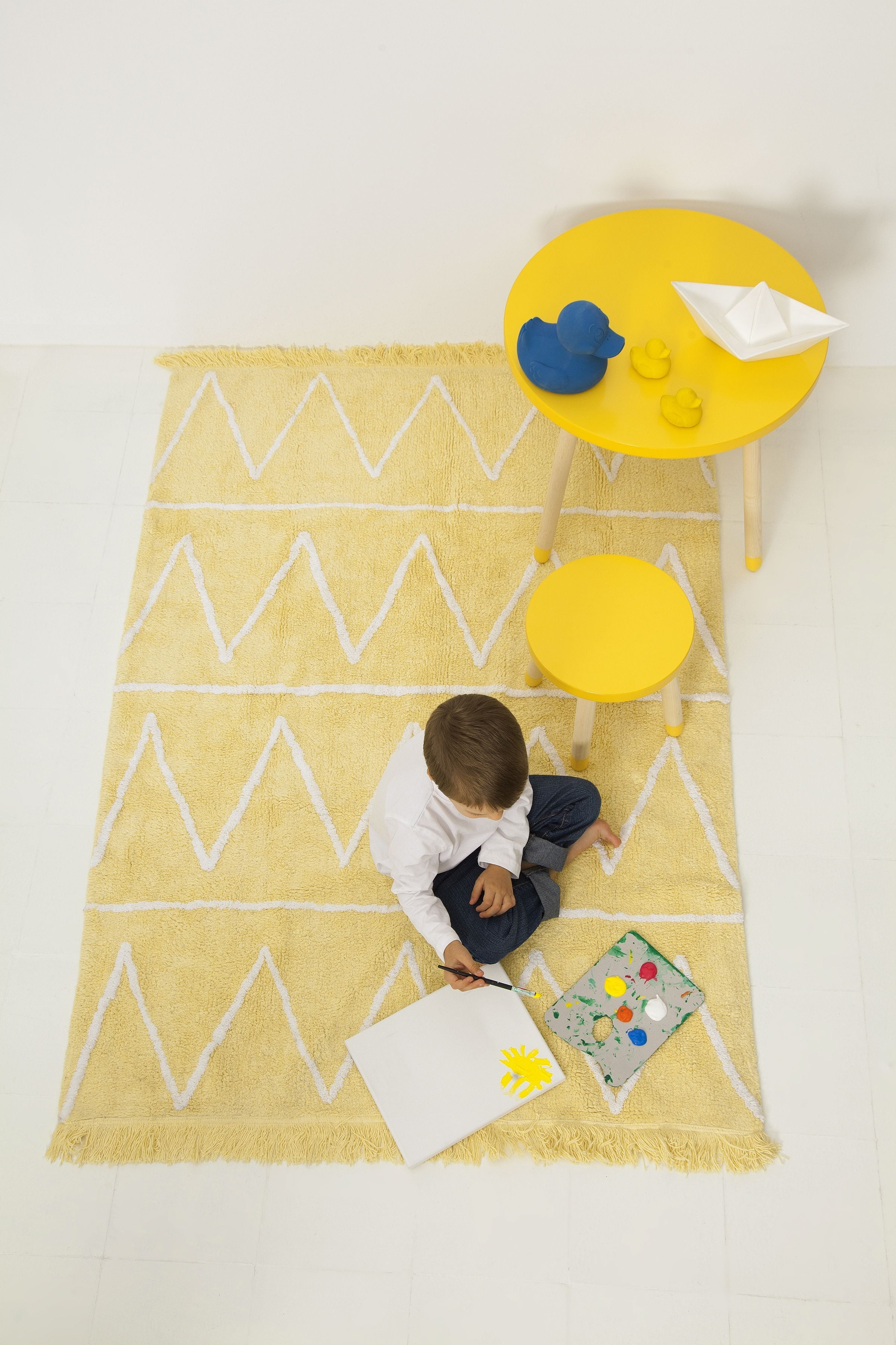 Hippy Rug in Yellow design by Lorena Canals
