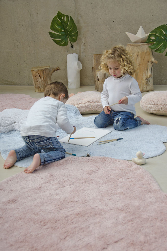 Fluffy Love Rug in Nude design by Lorena Canals