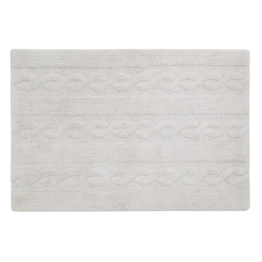 Braids Rug in Pearl Grey design by Lorena Canals
