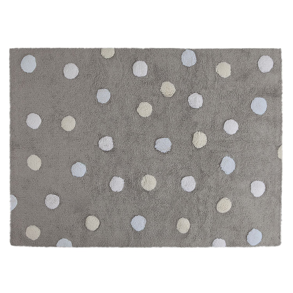 Polka Dots Rug in Grey & Blue design by Lorena Canals