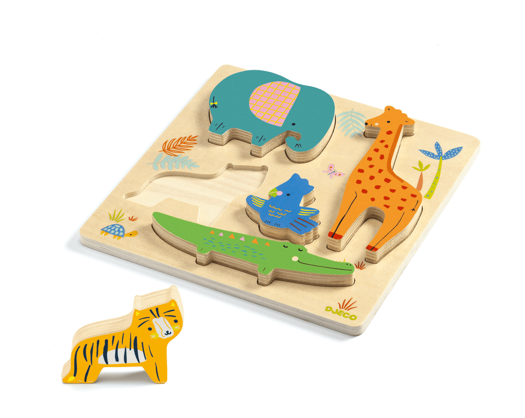 Wooden Puzzles Woodyjungle design by DJECO