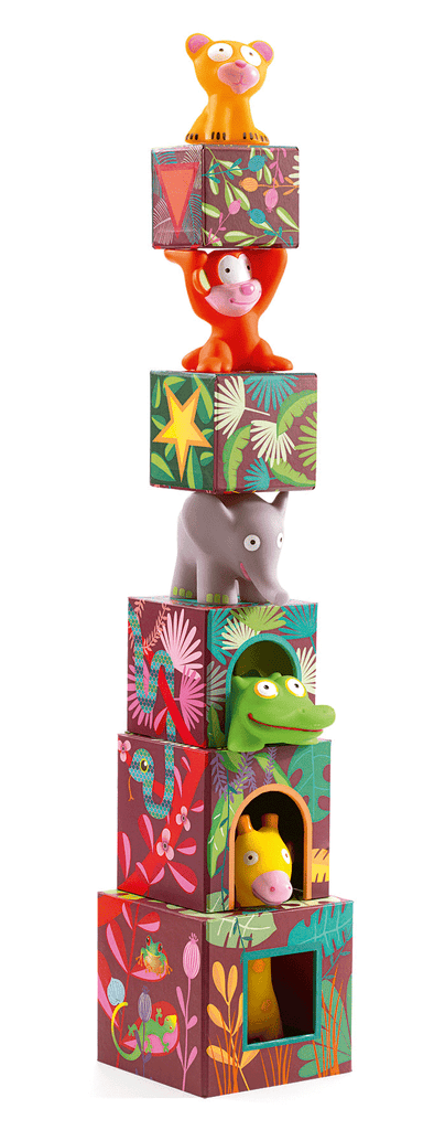 Blocks & Towers MAXI Topanijungle design by DJECO