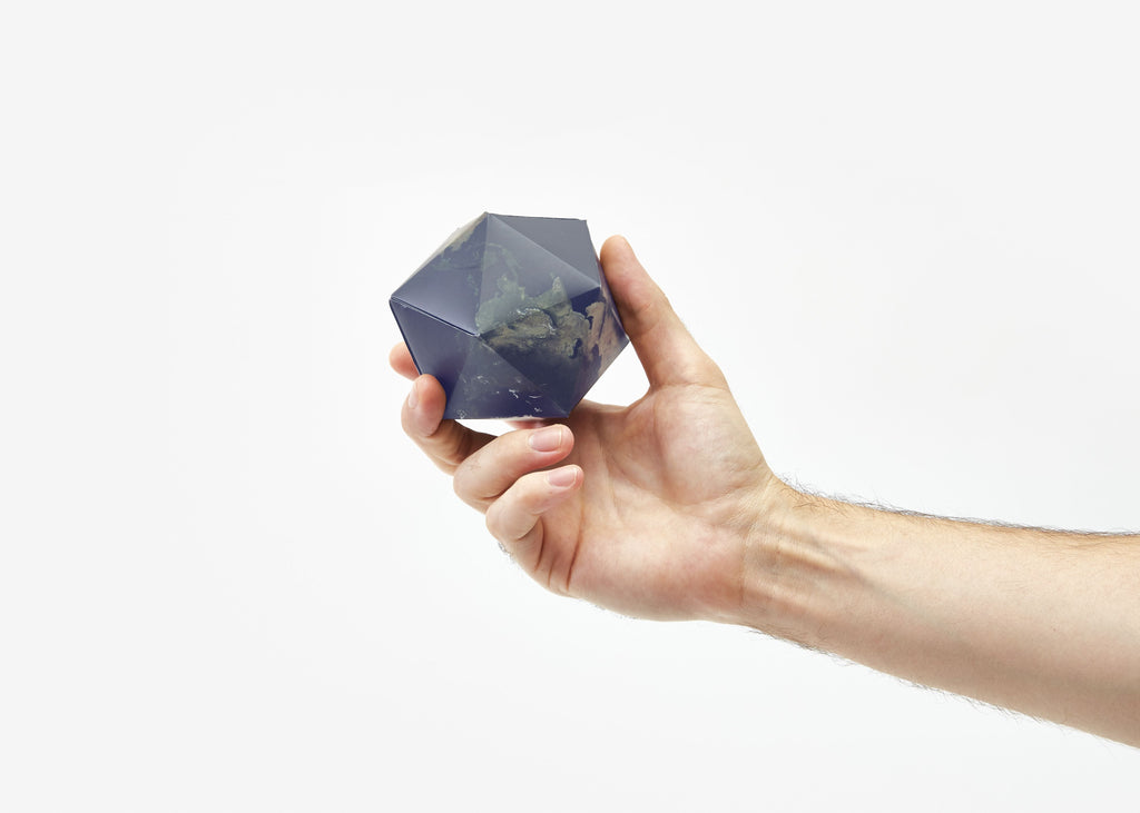 Dymaxion Folding Globe in Satellite Earth design by Areaware